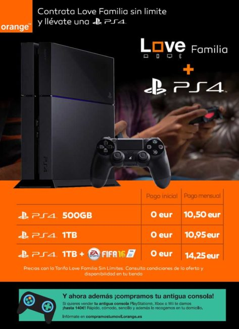 Orange regala Playstation PS4
