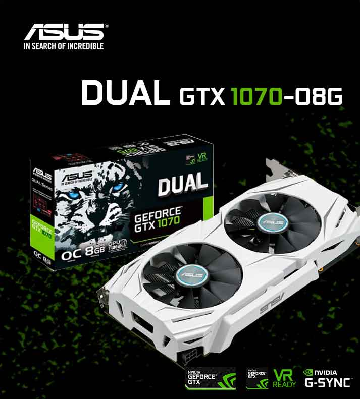 comprar asus dual gtx 1070-08G