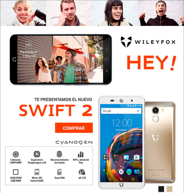 comprar wileyfox swift 2