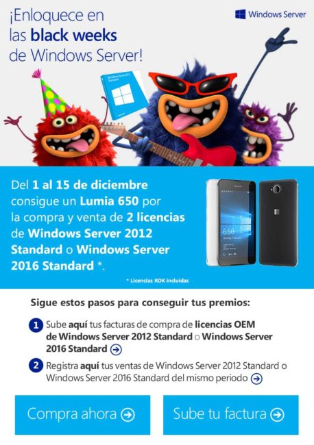 enloquece en los Black Weeks de Windows Server