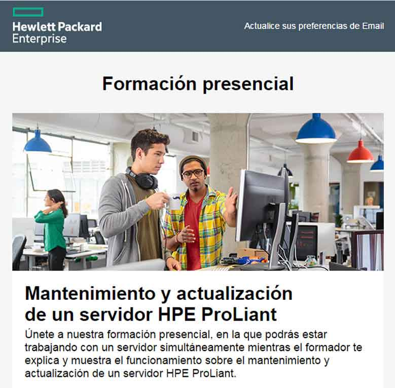 formacion HPE ProLiant