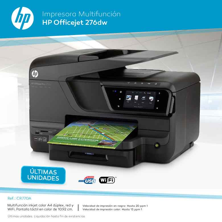 MULTIFUNCION HP OFFICEJETPRO 276DW WIFI DUPLEX en dealermarket