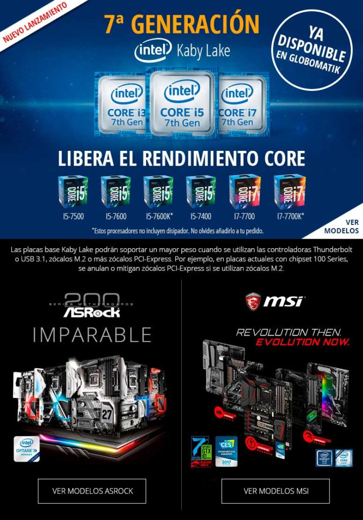comprar Intel 7ª generacion