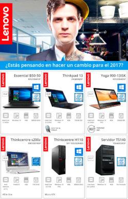 Si piensas cambiar en 2017, piensa en Lenovo. Y Globomatik te lo pone fácil con unos precios inigualables en toda la gama Lenovo: portátiles Essential , ThinkPad y Yoga, ThinkCentre y servidores.