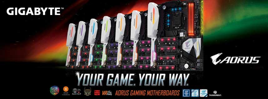 placas base AORUS Gaming de GIGABYTE
