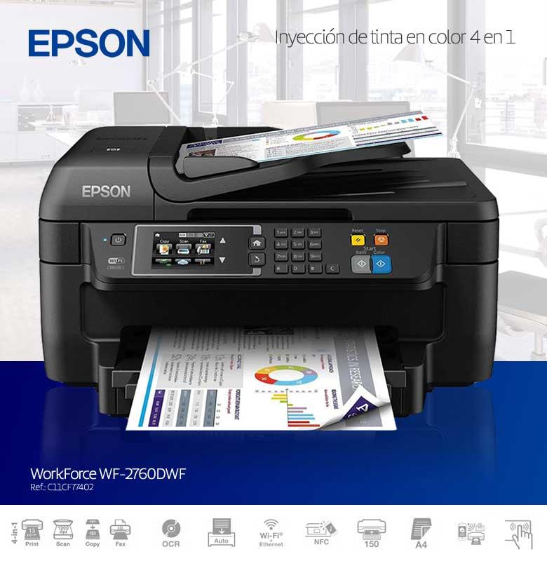 epson workforce inyeccion de tinta en color 4 en 1