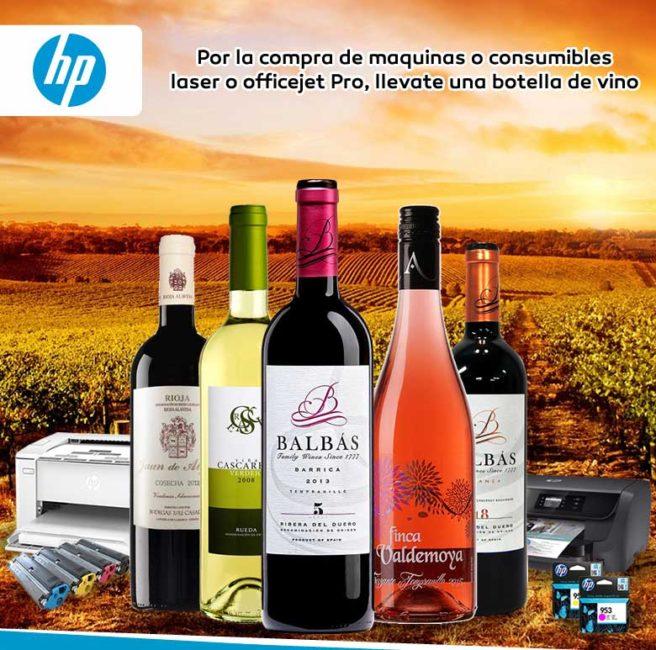 promo hp con regalo botella vino