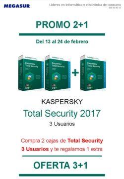 promoción kaspersky en megasur
