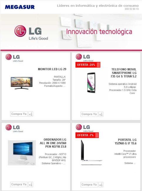 LG la gama mas completa en Megasur