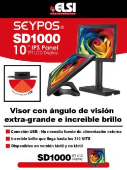 ELSI Seypos SD 1000 Visor con ángulo de visión extra-grande e increible brillo