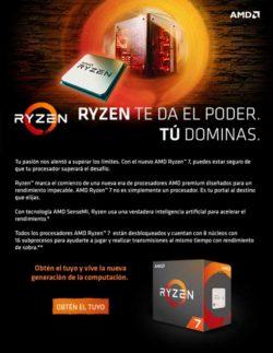 Novedad RYZEN de AMD