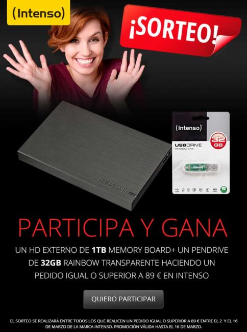 sorteo de productos intenso