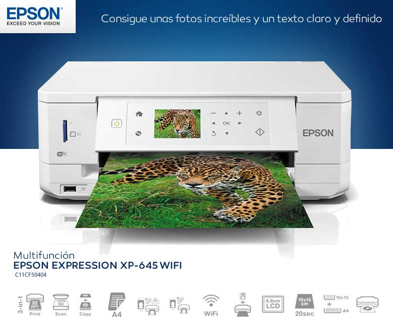 comprar MULTIFUNCION EPSON EXPRESSION XP-645 WIFI