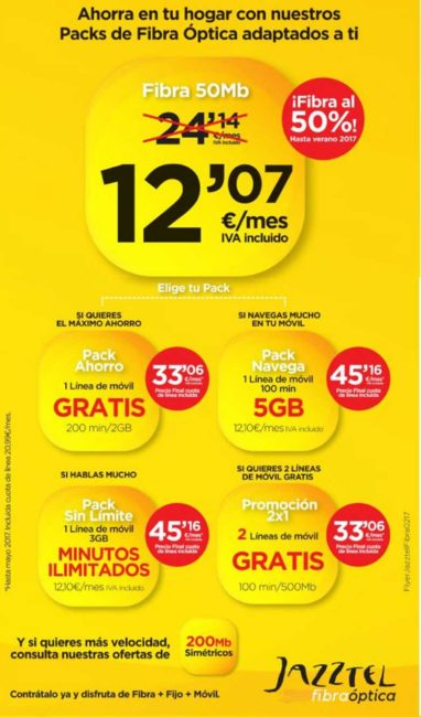 packs fibra optica jazztel