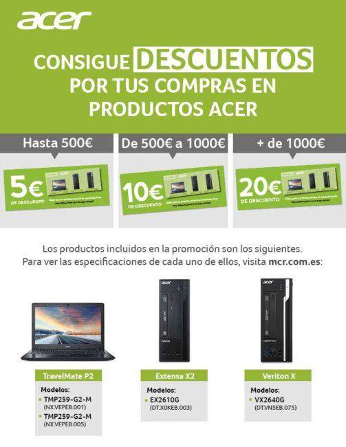 descuentos en productos Acer