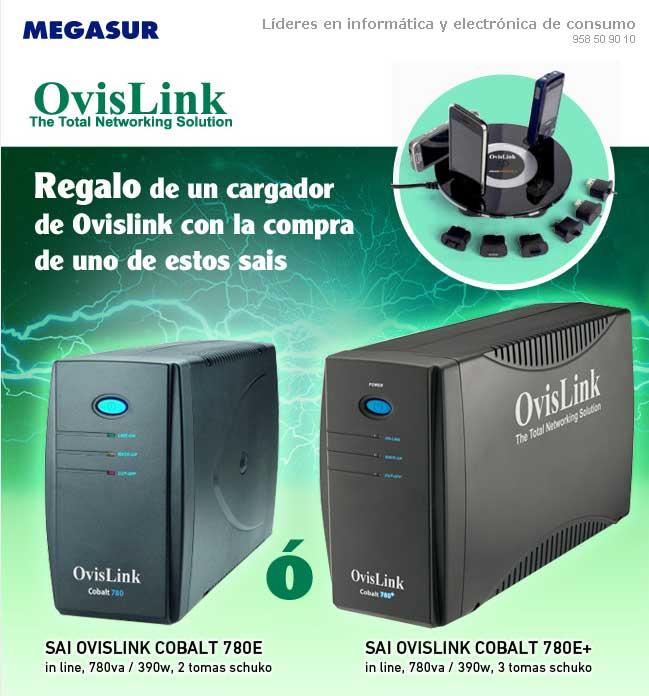 comprar SAI ovislink cobalt 780e in line 780va 390w 2 tomas schuko