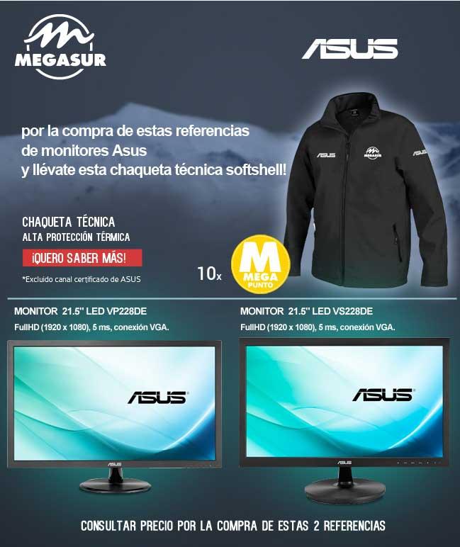 promocion monitores asus en megasur