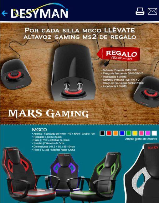 comprar silla gaming MGCO