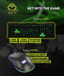 comprar teclado f100s