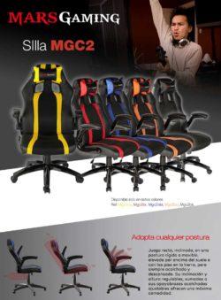 SILLA GAMER MARS GAMING MGC2BP NEGRA AMARILLA