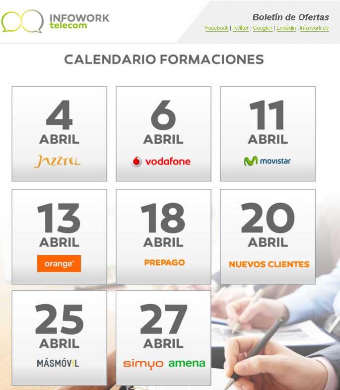 calendario formaciones infowork telecom