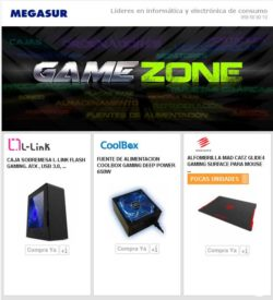 ofertas game zone en megasur