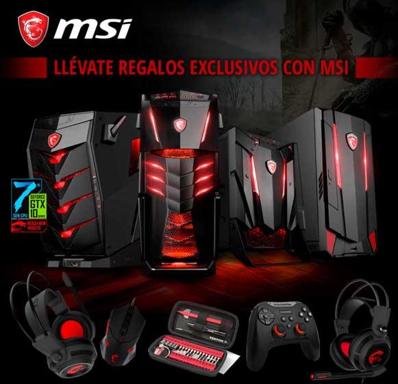 regalos exclusivos con MSI