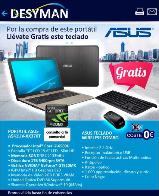 oferta portatil asus con teclado wireless de regalo