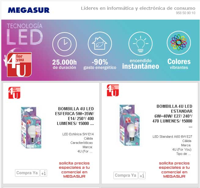 comprar lamparas led