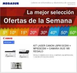 KIT LASER CANON LBP613CDW + MF633CDW + CAMARA IXUS 185 REGALO