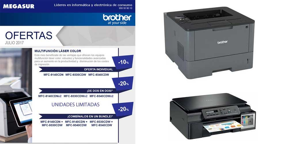 ofertas impresoras brother en megasur