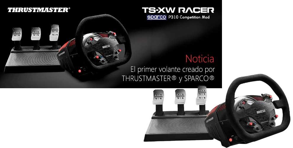 El primer volante de carreras de THRUSTMASTER® y SPARCO