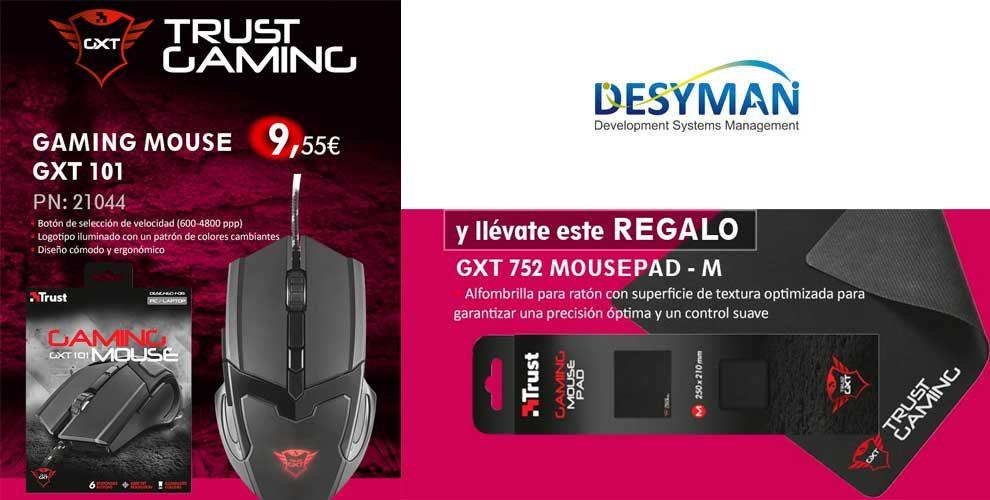 trust gaming mouse con alfombrilla de regalo