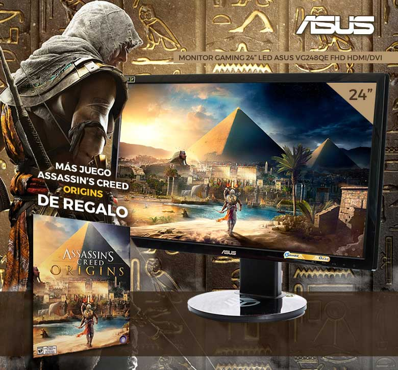 "MONITOR GAMING 24"" LED ASUS VG248QE FHD HDMI-DVI A"