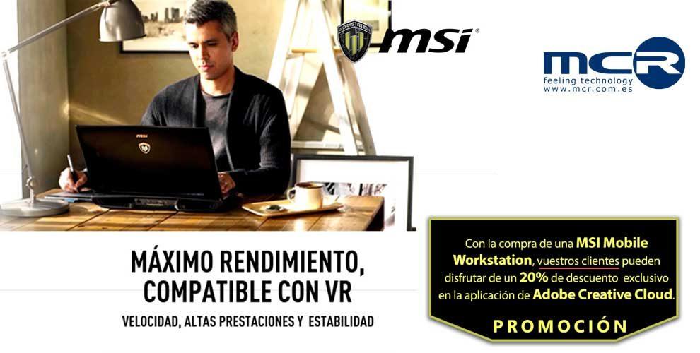 promo msi mobile workstation