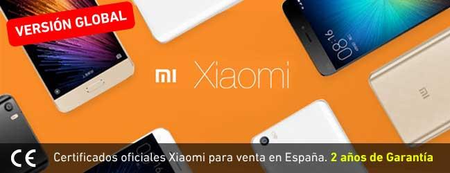 Xiaomi certificados y 2 años de garantia