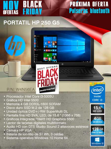 Black Friday en desyman con el portátil HP 250-G5