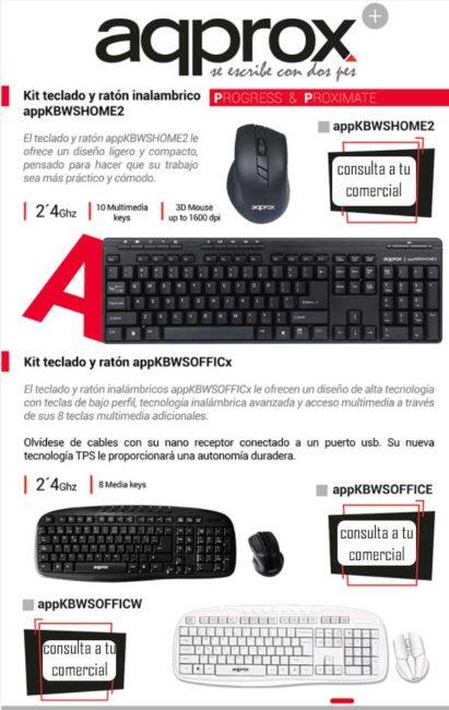 precio kit teclado y raton