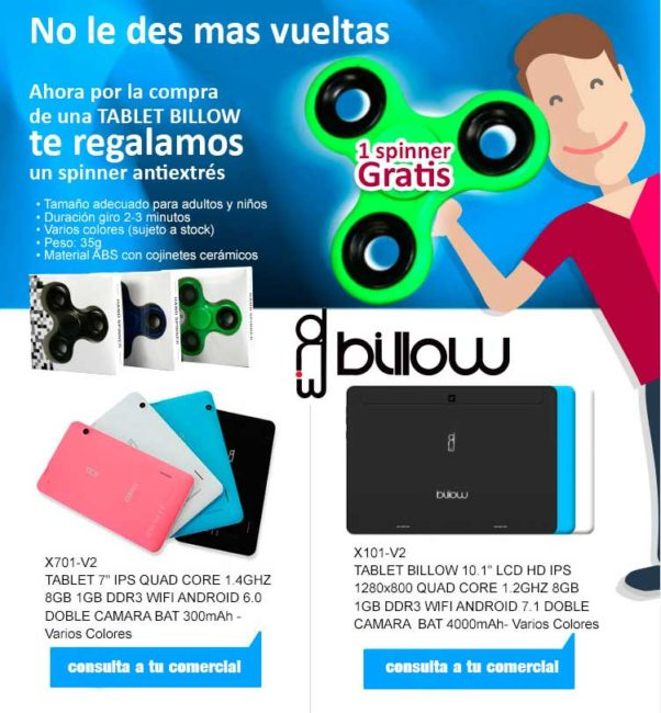 comprar tablet billow