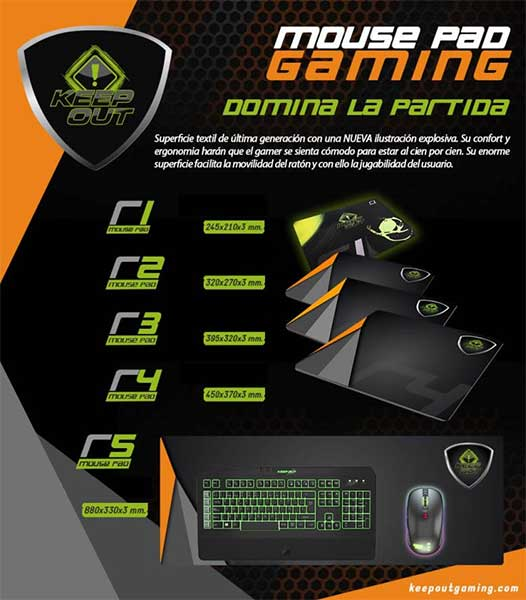 keep out mouse gaming pad