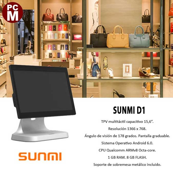 Terminal Android Compacto SUNMI D1