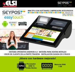 Nuevo SEYPOS Easytouch con DUAL CORE y 1GB de RAM