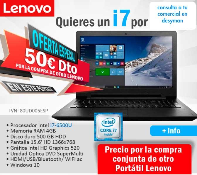descuento adicional en compra de portatil Lenovo
