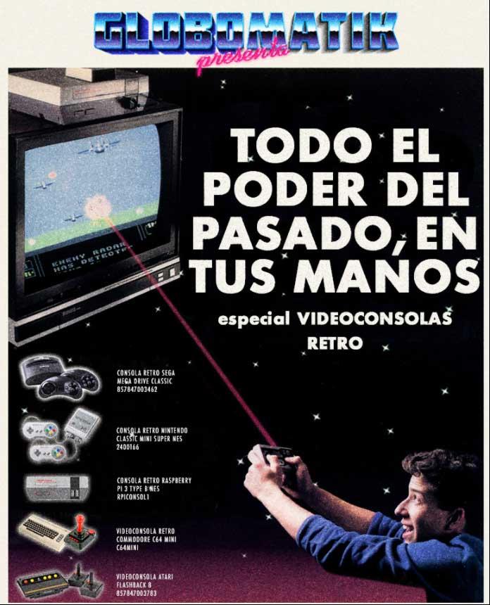 especial videoconsolas retro en globomatik