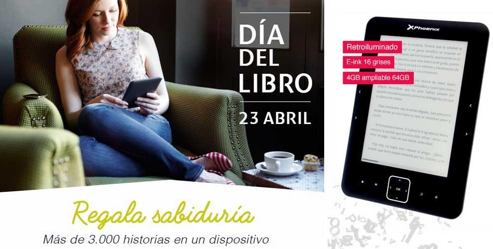 """Libro electronico ebook Phoenix ereader 6"""" tinta electronica e-ink"""