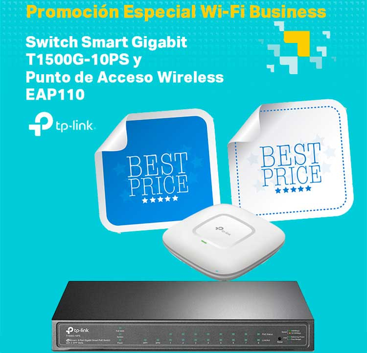SWITCH SEMIGESTIONABLE TP-LINK T1500-10PS 8P GIGA POE (53W)+ 2P SFP RACK