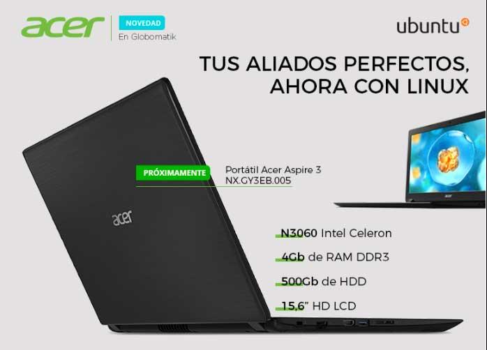 Acer ahora con Ubuntu con Globomatik