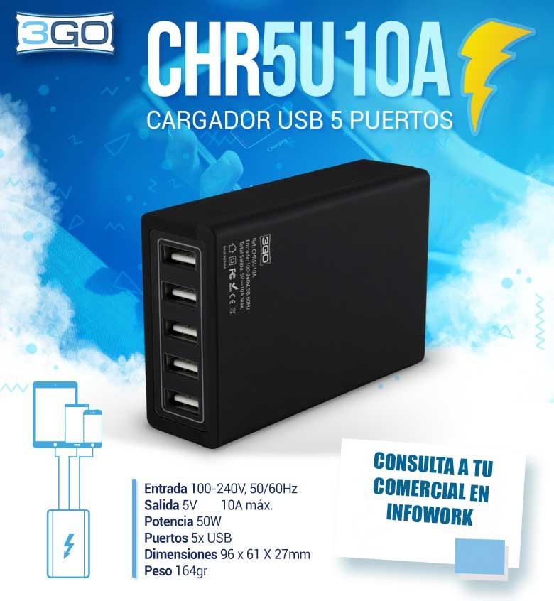 oferta cargador usb 5 puertos