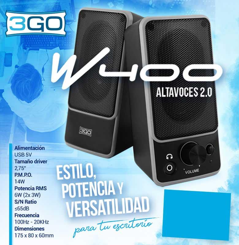 oferta ALTAVOCES 3GO 2.0 W400 14W