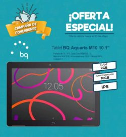 "TABLET BQ AQUARIS M10 NEGRA 10.1"" IPS QC1.3-2G-16G"